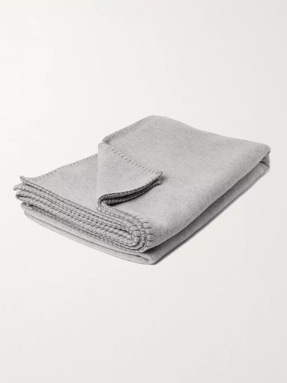Johnstons of Elgin Reversible Merino Wool and Cashmere-Blend Bed Throw