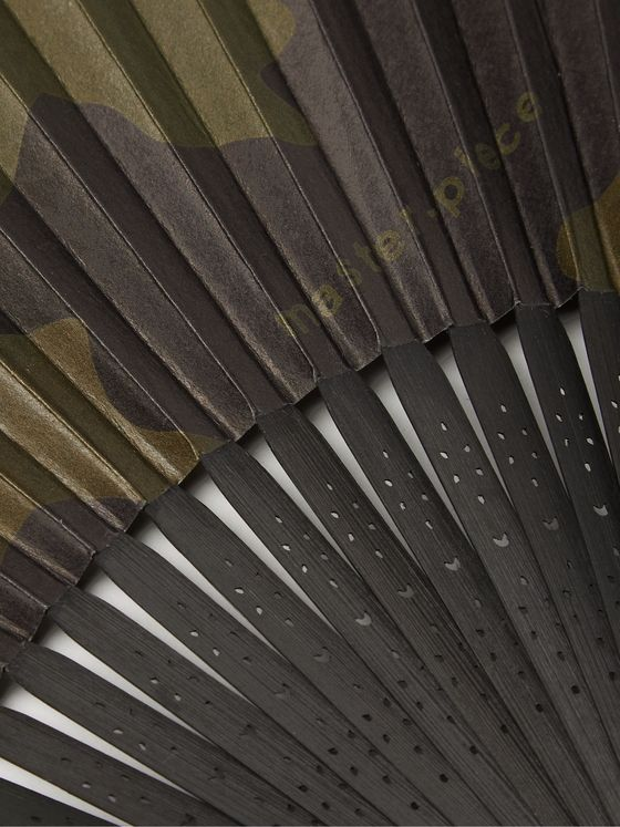 Master-Piece + Onishi Tsune Shoten Camouflage-Print Paper and Bamboo Fan