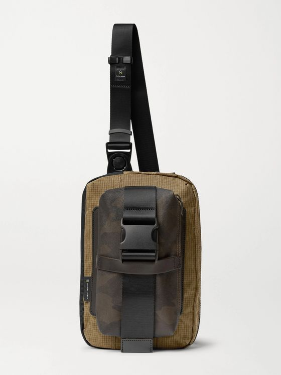 Master-Piece Rouge Camouflage-Print Coated-Cotton, CORDURA Ripstop and Nylon Sling Backpack