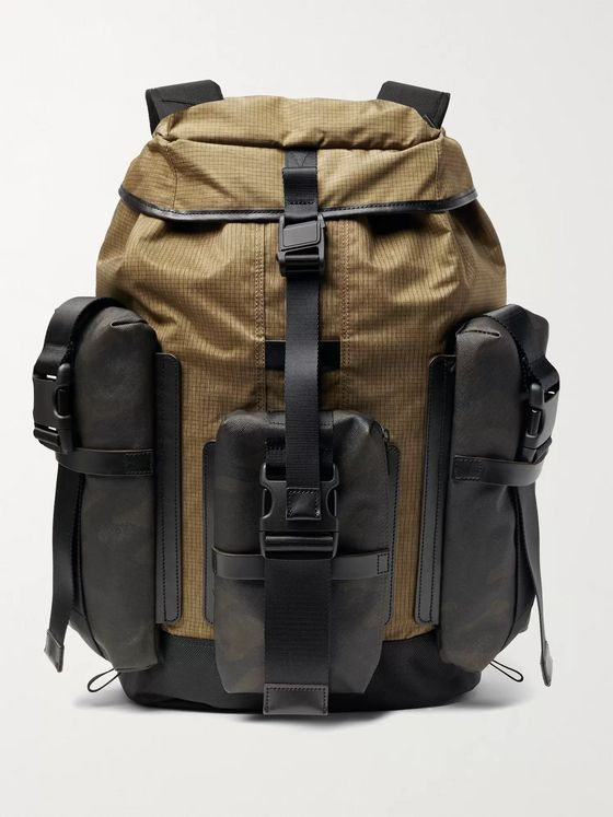 Master-Piece Rogue Leather-Trimmed Coated-Cotton, CORDURA Ripstop and Nylon Backpack