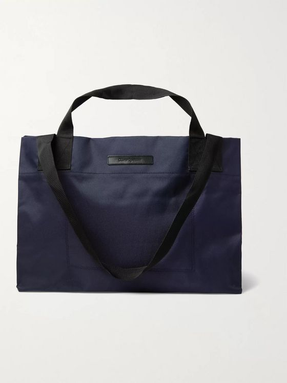 OLIVER SPENCER Leather-Trimmed Nylon Tote Bag