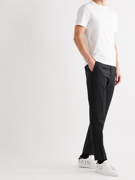 DOLCE & GABBANA Slim-Fit Tapered Wool-Blend Trousers