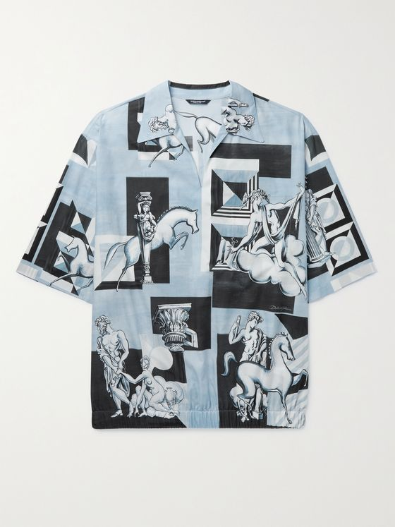 DOLCE & GABBANA Printed Cotton-Poplin Shirt