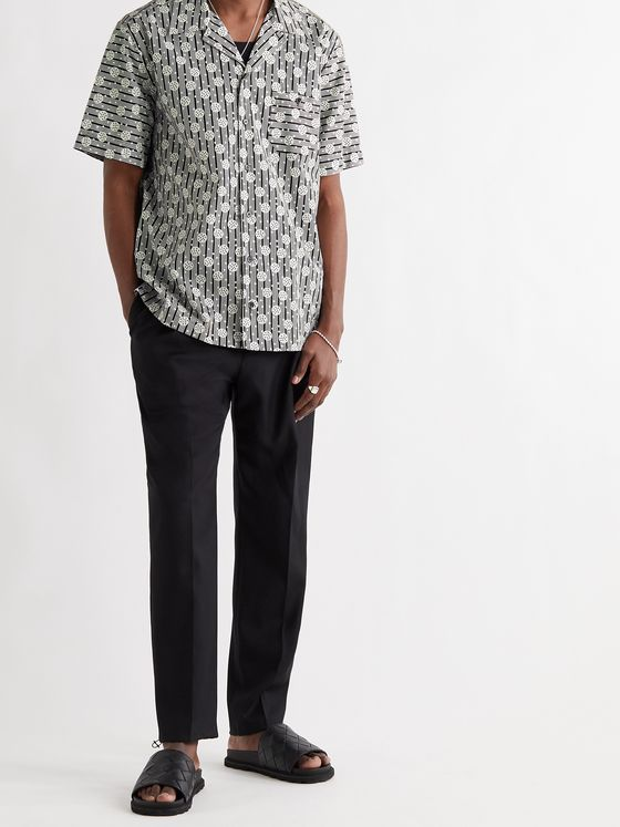 DOLCE & GABBANA Camp-Collar Printed Cotton-Poplin Shirt