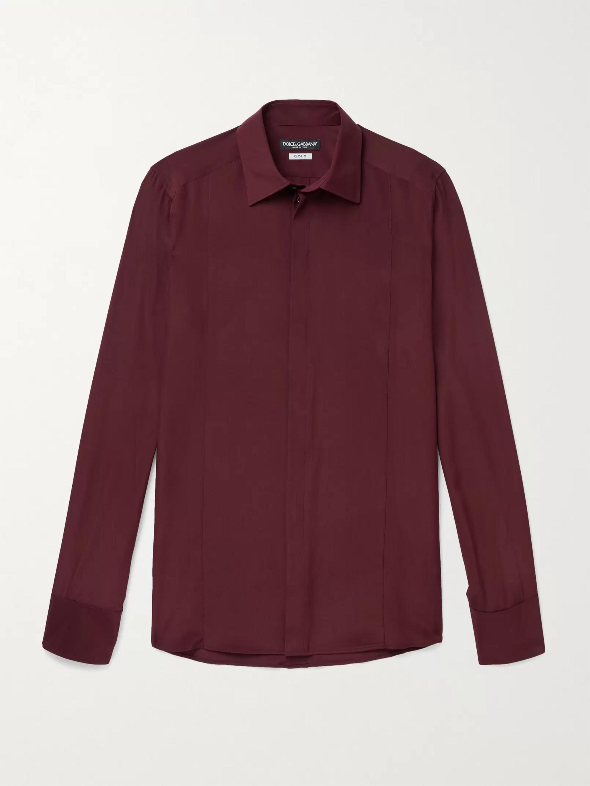 DOLCE & GABBANA Silk Crepe De Chine Shirt