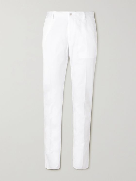DOLCE & GABBANA Stretch-Cotton Poplin Trousers