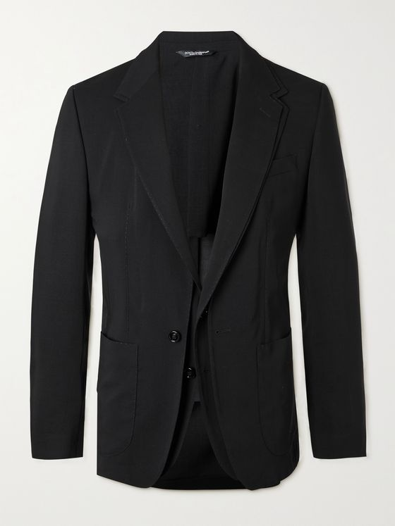 DOLCE & GABBANA Slim-Fit Layered Virgin Wool Blazer