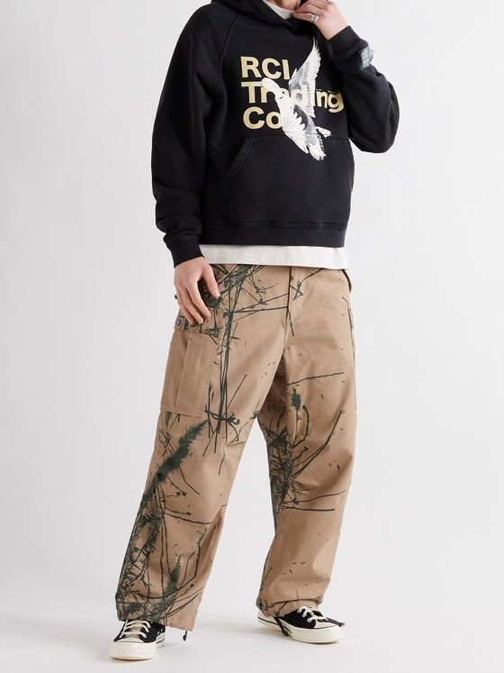 Reese Cooper® Canyon Wide-Leg Camouflage-Print Cotton-Canvas Cargo Trousers