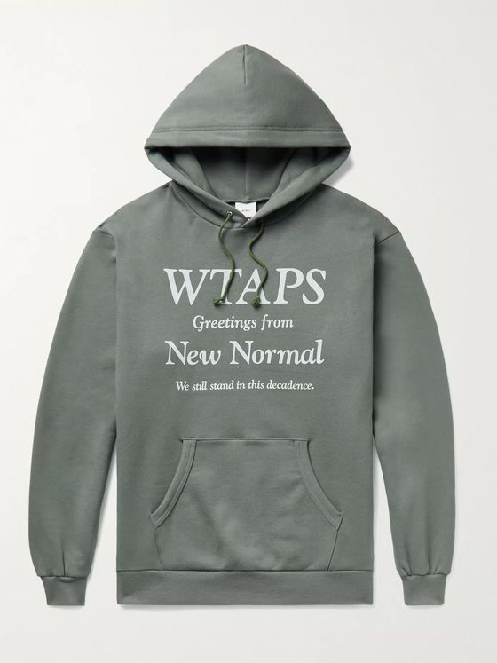 WTAPS Printed Fleece-Back Cotton-Jersey Hoodie