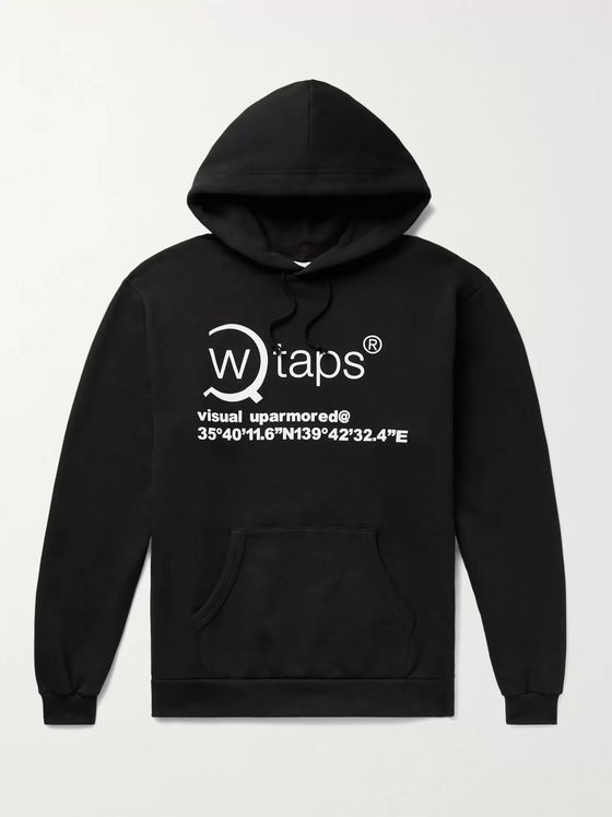 WTAPS Logo-Print Fleece-Back Cotton-Jersey Hoodie
