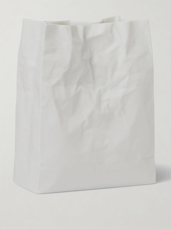 BY JAPAN + Ceramic Japan Crinkled Ceramic Vase
