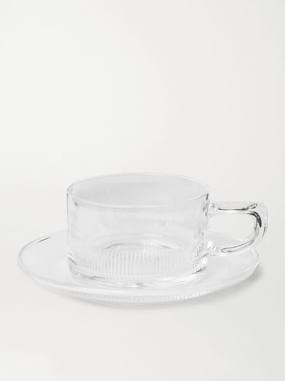 BY JAPAN + Hirota Glass Cup and Saucer Set