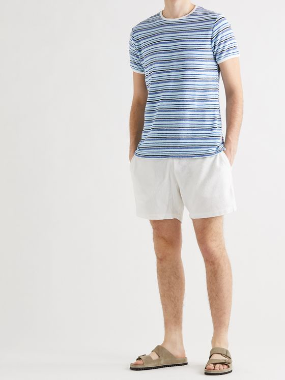 ORLEBAR BROWN Sammy Striped Cotton-Terry T-Shirt