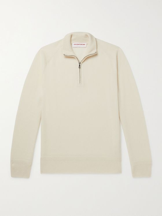 ORLEBAR BROWN Lennard Cashmere Half-Zip Sweater