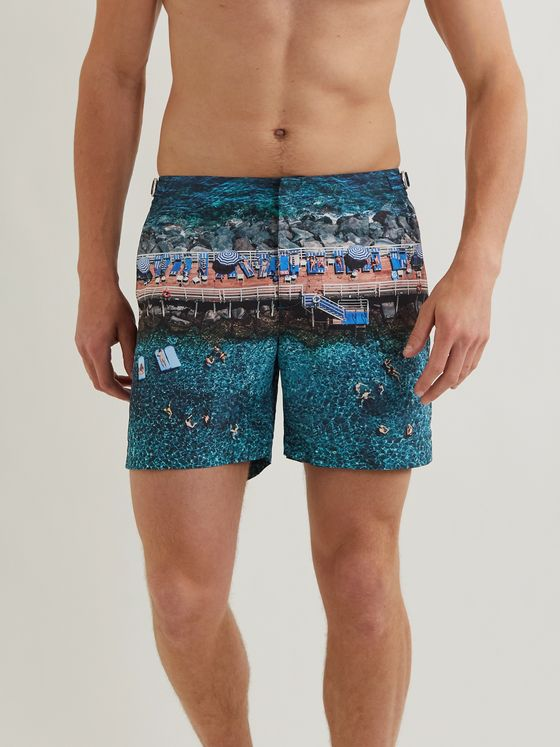 ORLEBAR BROWN + Stuart Cantor Bulldog Mid-Length Printed Swim Shorts