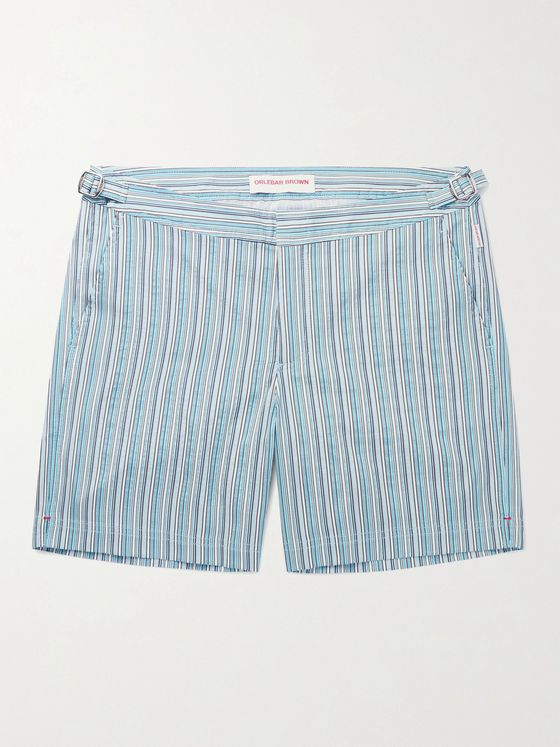 ORLEBAR BROWN Bulldog Mid-Length Striped Swim Shorts