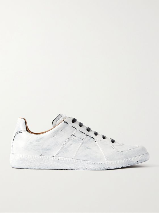 MAISON MARGIELA Replica Painted Leather Sneakers