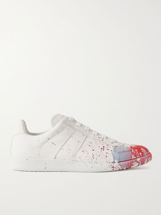 MAISON MARGIELA Replica Painted Canvas Sneakers