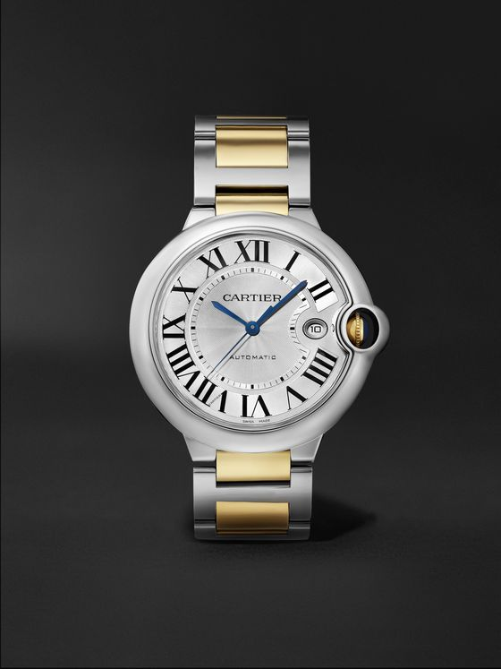 CARTIER Ballon Bleu de Cartier Automatic 42mm Stainless Steel and 18-Karat Gold Watch, Ref. No. CRW2BB0022