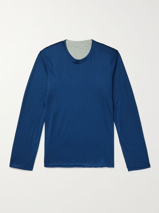 Sease Reversible Virgin Wool and Cotton Sweater