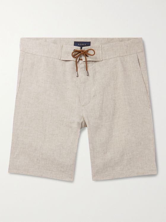 Sease Sunset Slim-Fit Linen-Chambray Drawstring Shorts