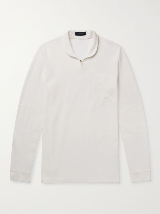 SEASE Ellen Cotton-Piqué Polo Shirt