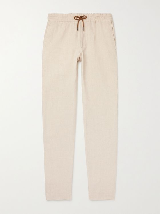 SEASE Summer Mindset Tapered Hemp Drawstring Trousers