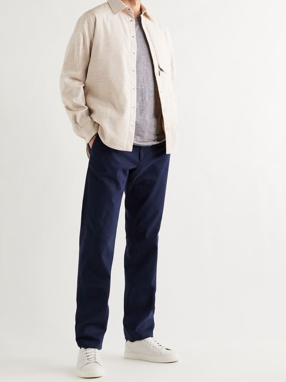 SEASE Padded Linen and Wool-Blend Overshirt