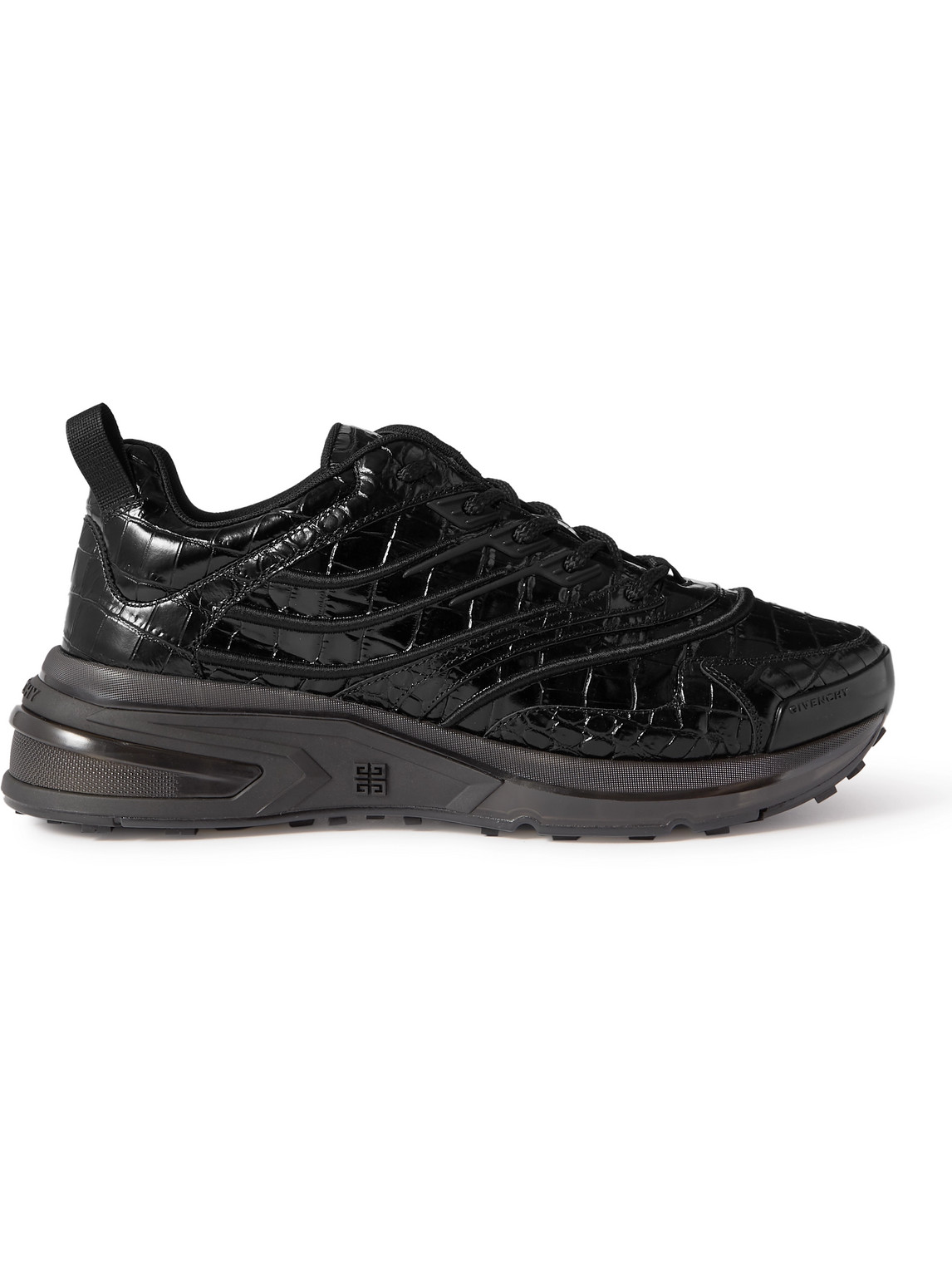 Givenchy Leathers GIV 1 CROC-EFFECT LEATHER SNEAKERS