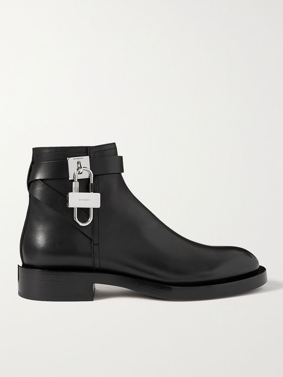 GIVENCHY Embellished Leather Chelsea Boots