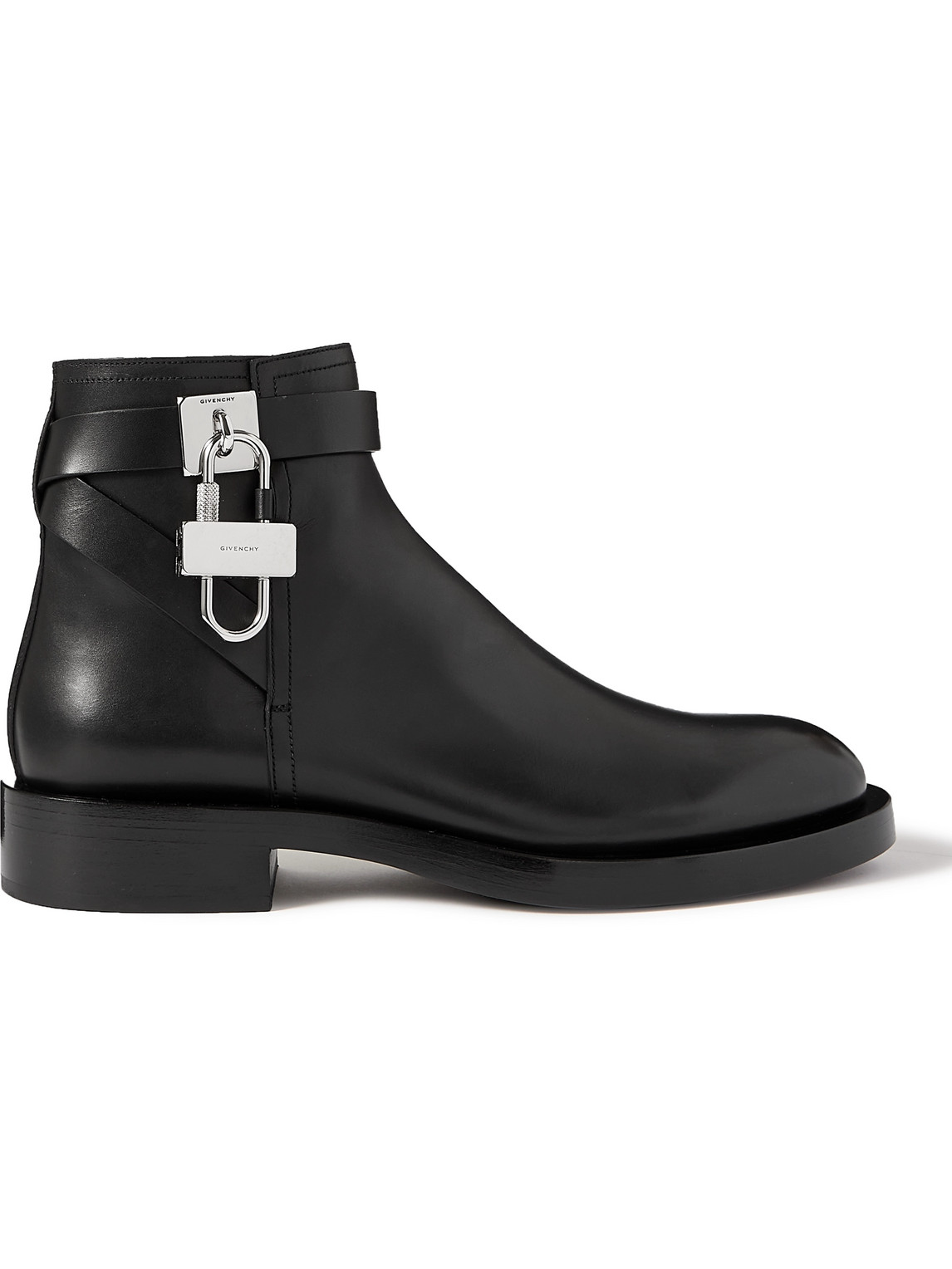 Givenchy Boots EMBELLISHED CROC-EFFECT LEATHER CHELSEA BOOTS