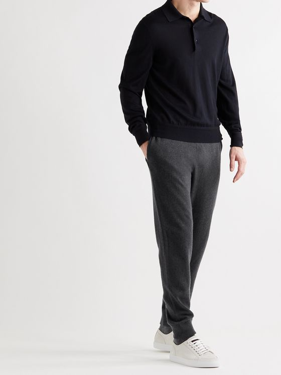 THE ROW Olivier Tapered Cashmere Sweatpants
