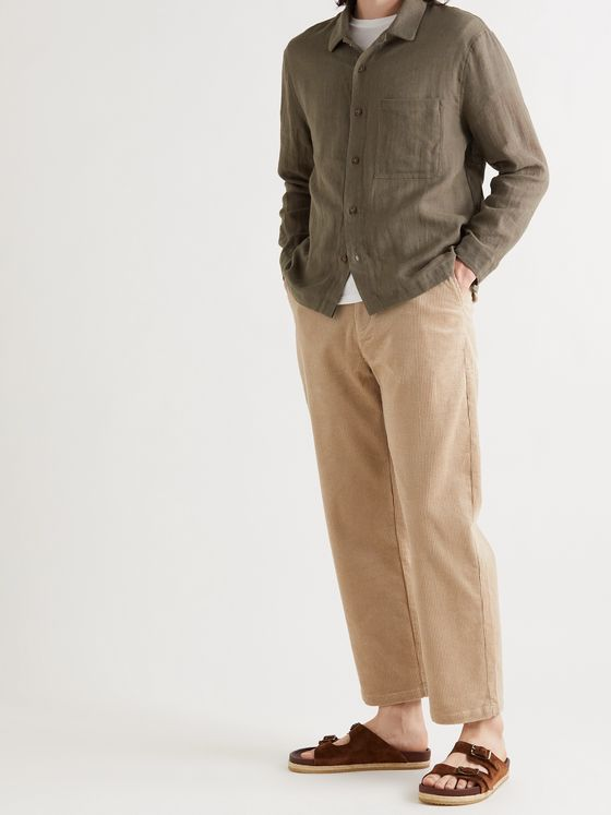 Satta Enzyme-Washed Cotton-Corduroy Trousers