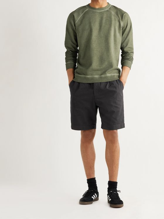 FOLK Loom Garment-Dyed Cotton-Canvas Shorts