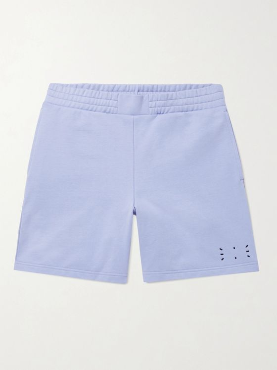 MCQ Wide-Leg Appliquéd Cotton-Jersey Shorts