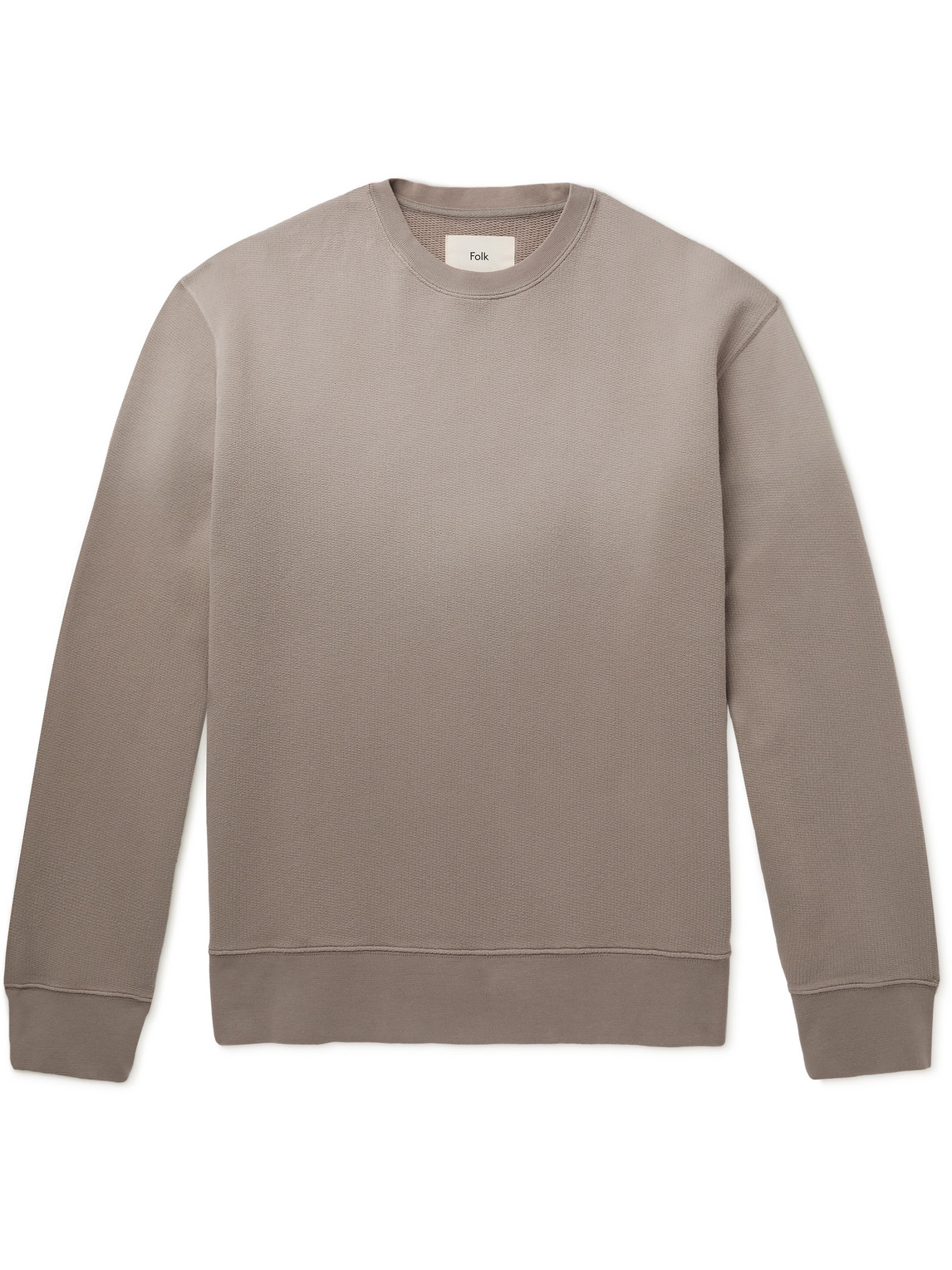 Folk Dégradé Loopback Cotton-jersey Sweatshirt In Neutrals
