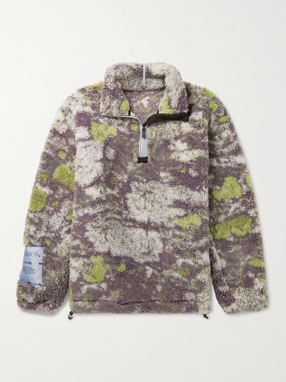 MCQ Printed Half-Zip Fleece Sweatshirt