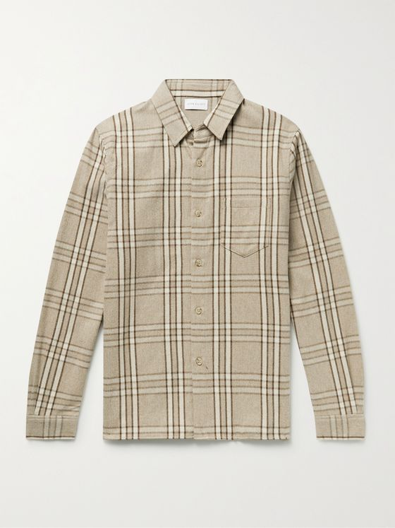 JOHN ELLIOTT Sly Checked Cotton-Flannel Shirt