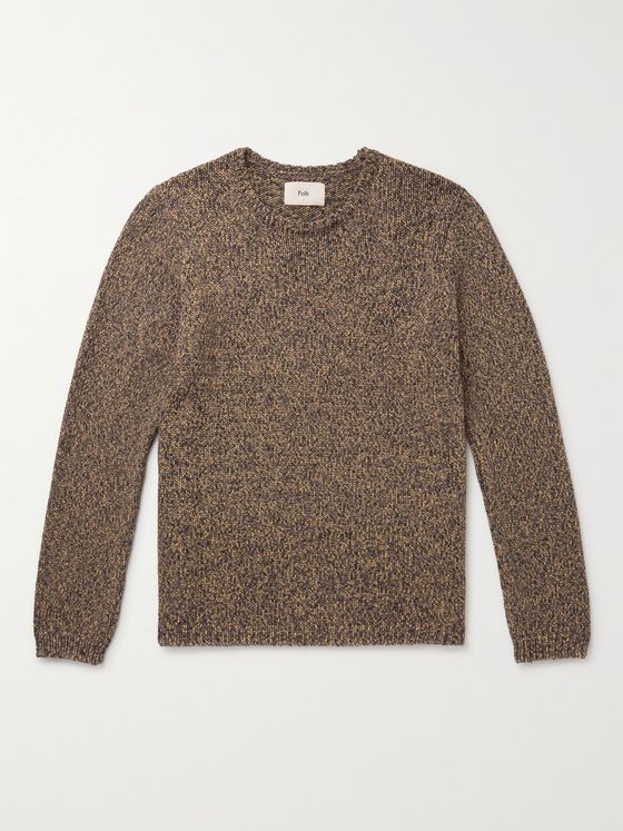 FOLK Rope Mélange Cotton-Blend Sweater