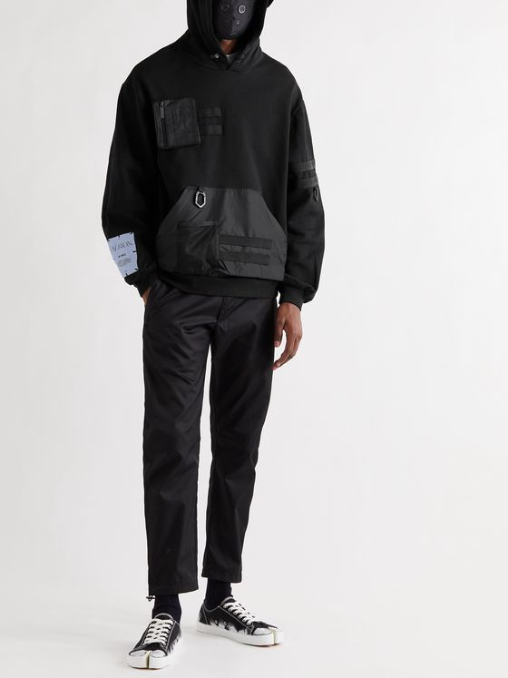 MCQ Oversized Shell-Trimmed Cotton-Jersey Hoodie with Detachable Face Mask