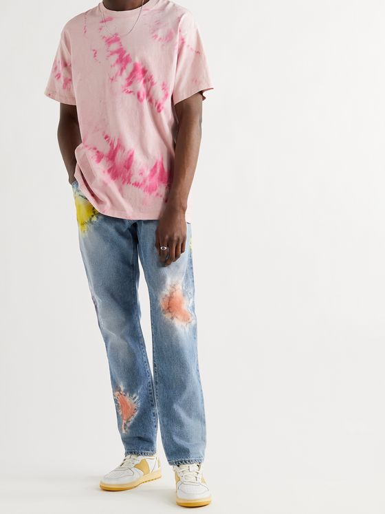 JOHN ELLIOTT The Kane 2 Tie-Dyed Denim Jeans