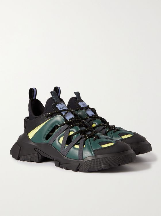 MCQ Albion 4 Orbyt Descender Panelled Faux Leather Sneakers