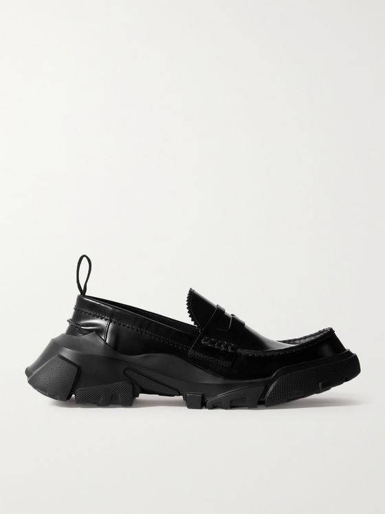 MCQ ED6 Orbyt Leather Penny Loafers
