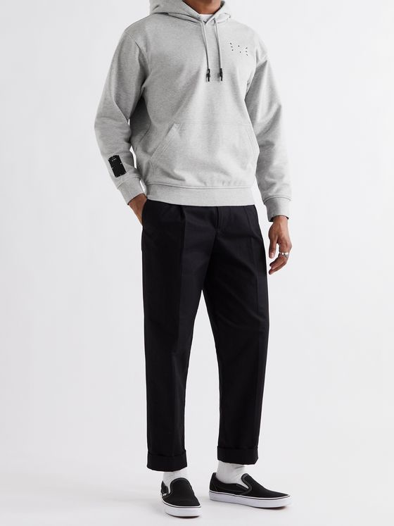 MCQ Mélange Loopback Cotton-Jersey Hoodie