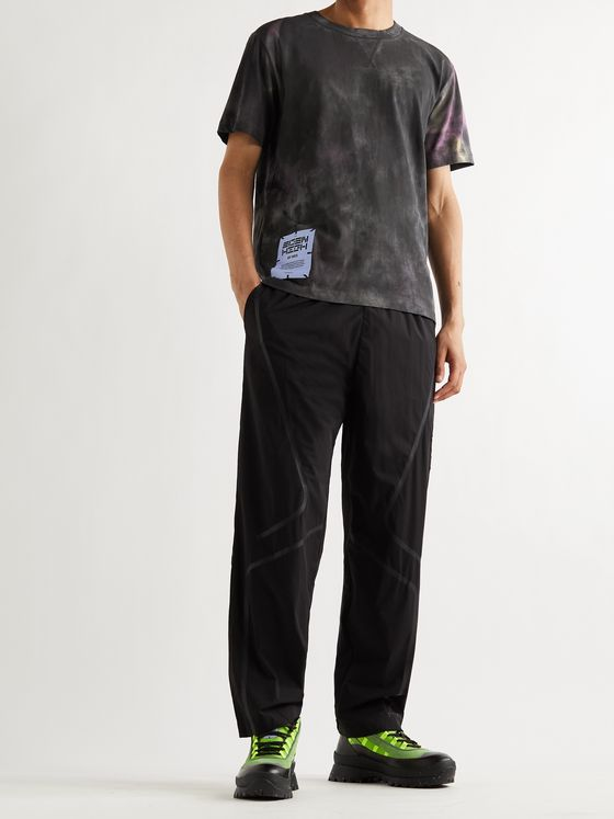 MCQ Logo-Appliquéd Tie-Dyed Cotton-Jersey T-Shirt
