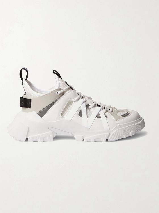 MCQ Orbyt Descender 2.0 Mesh and Faux Leather Sneakers