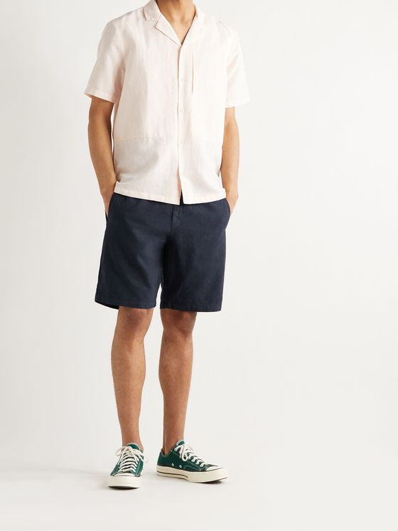 FOLK Linen and Cotton-Blend Shorts