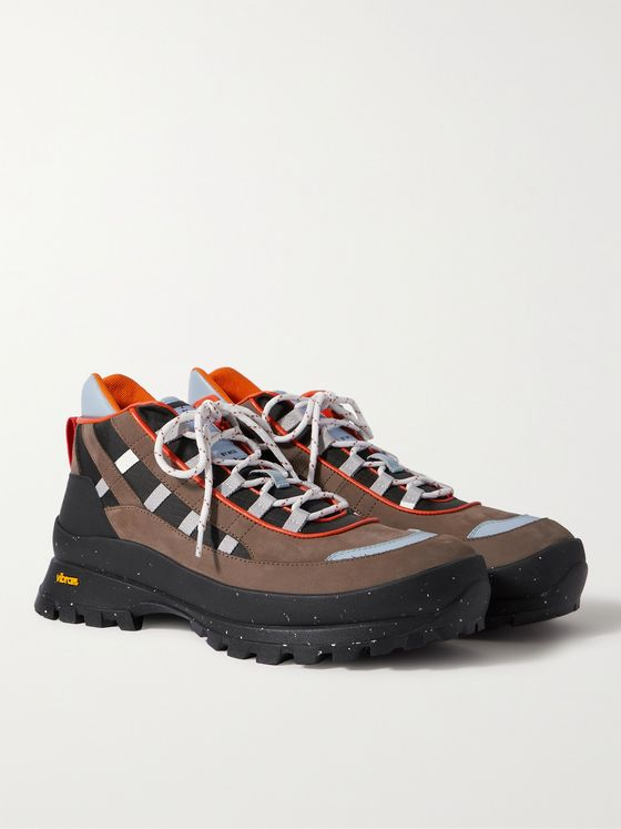 MCQ Albion 4 Leather and Riptstop-Trimmed Suede Hiking Boots