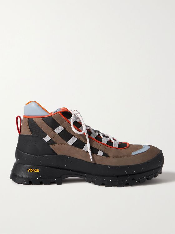 MCQ Albion 4 Leather and Ripstop-Trimmed Suede Hiking Boots
