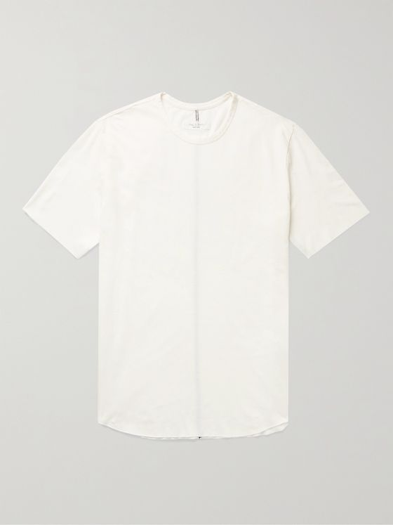 RAG & BONE Haydon Distressed Linen and Cotton-Blend Jersey T-Shirt